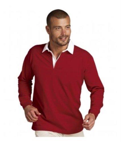SOL'S Rugby-Shirt, lange Ärmel Weiß - Weiß