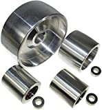 (AL5-24) Set di rotelle per smerigliatrice a nastro CNC per smerigliatrici a lama da 130 mm, albero da 24 mm, binario da 75 mm, puleggia folle da 50 mm