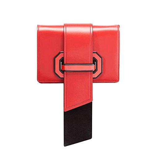 Mena UK Borsa a tracolla Donna multicolore Borse a tracolla Messenger Bag borsa a quadri ( Colore : Blu , dimensioni : 20cm*13cm*6cm ) Rosso