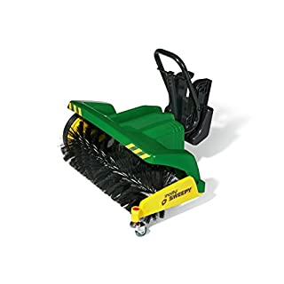 Rolly Toys 409884 -rollySweepy | Kehrwalze rollyTrac Sweep | Anbaukehrmaschine zum Frontanbau | ab 3 Jahren | Farbe grün