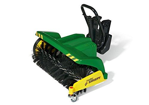 Rolly Toys Kehrmaschine Rolly Toys 409884 -rollySweepy | Kehrwalze rollyTrac Sweep | Anbaukehrmaschine zum Frontanbau | ab 3 Jahren | Farbe grün  | TÜV/GS geprüft