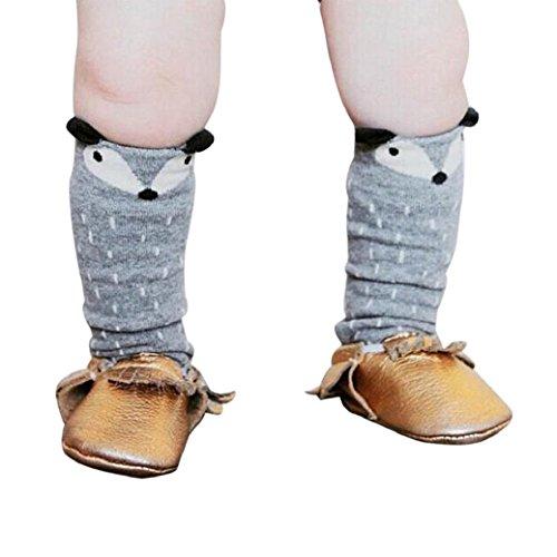 Fulltime® Les Tout-Petits Fox Kids Motif Chaussettes Montantes - âge 4-6 Ans (café)