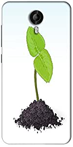 Snoogg Spring Sprout Vector Designer Protective Back Case Cover For Micromax Canvas Nitro 3 E455