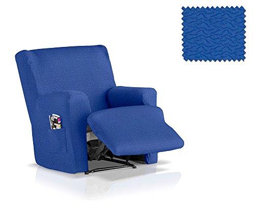 JM Textil Copripoltrona reclinabile Completo Multi-Elastico Blaki Dimensione 1 Posto (Standard), Colore 03 (Vari Colori Disponibili.)