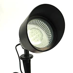 Powerbee ® Custodian Commercial grade Mains Equivalent Solar garden Spotlight (Aluminium Alloy body) with 12 large superbright leds, solid construction, works ALL year round ALL night long!