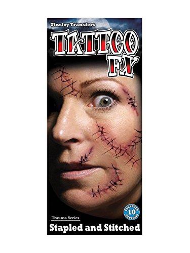 (Halloween Fake Tattoo genäht gefälschte Narben)