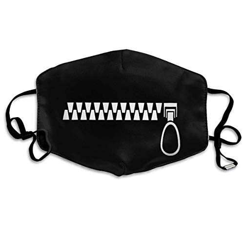 Unisex Mouth Mask Fashion Black Funny Face Surgical Masks Half Face Earloop for Outdoor Cycling -
