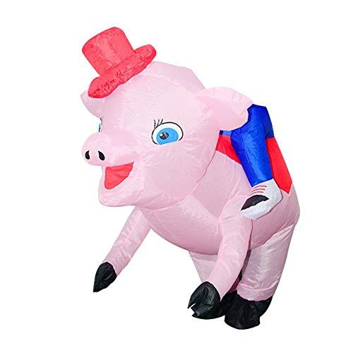 vanpower - Disfraz de Cerdo Inflable para Adultos y niños