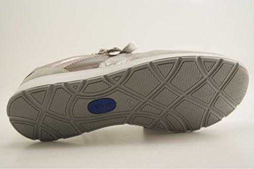 Jenny Glendale, Sneaker Donna Grau (Cloud/Silber, Pebble/Titan/Fucile)