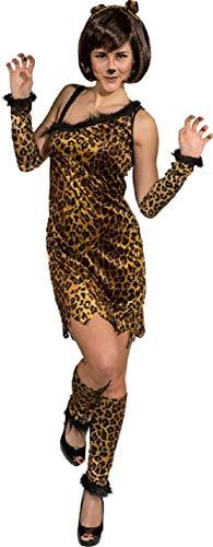 Cheetah Kostüm - Fancy Me Damen Sexy Wild Cheetah Print Tier-Dschungel Jungle Party Karneval Festival Kostüm Outfit