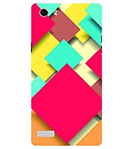 Chiraiyaa Designer Printed Premium Back Cover Case for Oppo Neo 7 (blocks colorful pattern) (Multicolor)