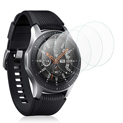 Mwoot 4 Stück Schutzfolie aus Glas für Samsung Galaxy Watch 42MM, Samsung Gear S2 Classic & Samsung Gear Sport,9H Härte Kratzfest Bildschirmschutzglas