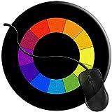 PQU Awesome Tappetino Mouse,Tappetino per Tappetino per Computer Personalizzato con Maschera da Portiere per Hockey su Ghiaccio per La Decorazione del Computer in Ufficio 20X20cm