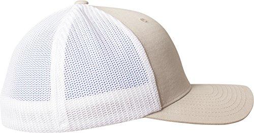 Flexfit Mesh Trucker 2-Tone Kappe khaki/White