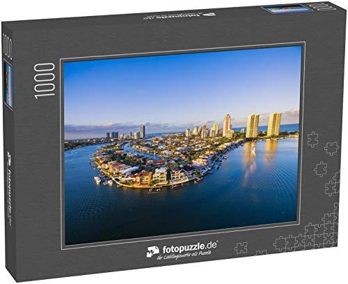 fotopuzzle.de Puzzle 1000 Teile EIN Luftbild von Paradise Waters; einem luxuriösen Vorort der Gold Coast in Queensland