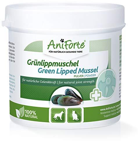 AniForte Grünlippmuschel-Pulver 100g für Hunde und Katzen, Reines Grünlippmuschel-Extrakt Perna Canaliculus, Muschel-Extrakt ohne Zusätze oder Konservierungsmittel, Natürlich Effektiv