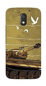 Kaira High Quality Printed Designer Back Case Cover For Motorola Moto E3 Power(Tank)