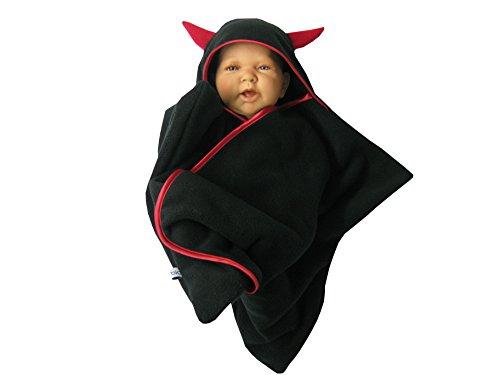 stern star fleece baby wrap schlafsack pucktuch swaddle teufelchen schwarz -