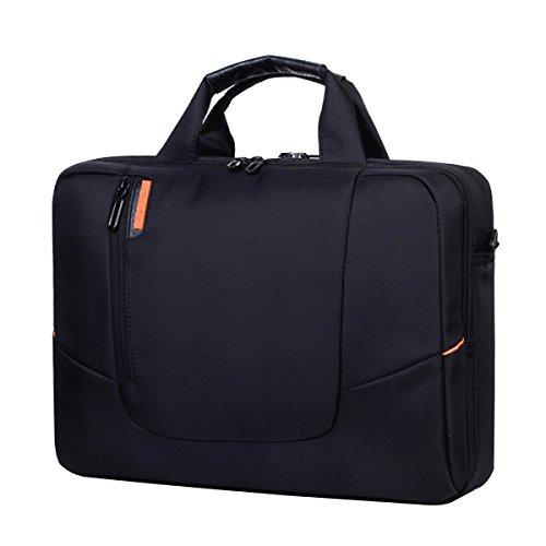 Laptop-Tasche Portable Schulter Business Mode Umhängetasche 14 Zoll 15 6 Zoll 17 3 Zoll Laptop 4 Farben,Black-15.6Inch