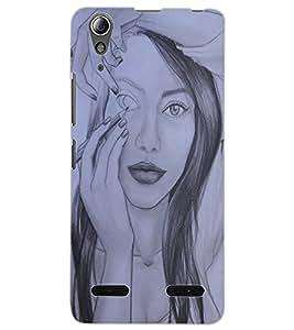 ColourCraft Creative Sketch Design Back Case Cover for LENOVO A6000