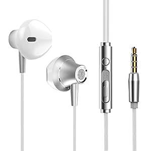 Auricolari In-ear, Si-maker Cuffie Con Cavo y Microfono e Telecomando, Stereo HiFi Cancellazione del Rumore Wired Headset per iPhone, Samsung Galaxy J3 J7 S7 S8 S9, Huawei P20 Lite Honor 10 9 Lite 7X