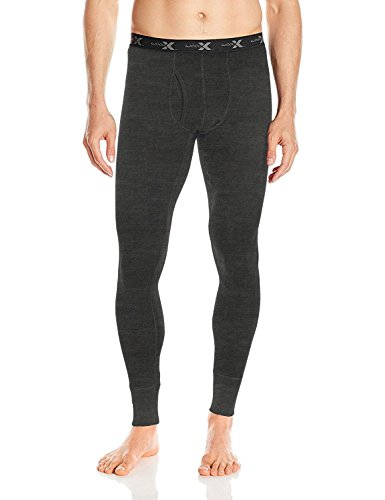 WoolX Backcountry - Men's Merino Wool Baselayer Bottoms - Merino Wool Leggings, Large, Charcoal Heather -