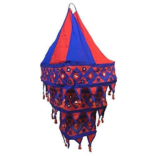 paralume-lanterna-a-tre-lande-70cm-rosso-blu-quadrato-tessuto-indiano-mano-dopera-dindia