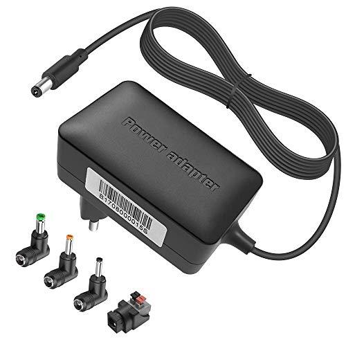 Newding 12V 2A Netzteil, Mit 4 Stecker, Universal Ladegerät Geeignet für LED Lichtleisten, Monitor, Externe Festplatte, Lautsprecher, Set-Top-Box, Universal Wireless Router 12 Volt 2 Amp