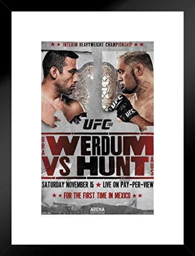 Pyramid America UFC 180Fabricio Werdum VS Mark Hunt Sport mattierte gerahmtes Poster 50,8x 66cm