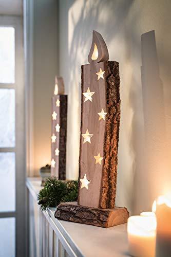 Dekoleidenschaft Objet décoratif à LED « Bougie Lumineuse ».