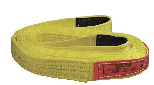 Liftall TS2802DX20 Webmaster 1600 Polyester Web Tow-All 2-ply Vehicle Strap, 2 x 20', 18 Length 8 Width by Lift All -