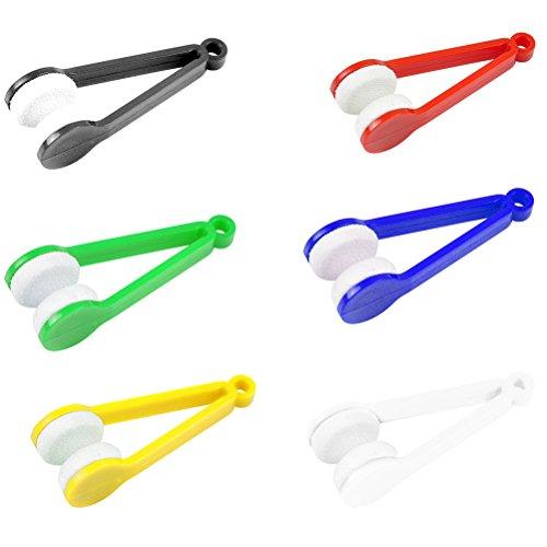 Mini-Reinigungsklammer aus Mikrofasertuch,Magische Brille Brillen Microfiber Cleaner Pinsel Reinigungs-Tool(zufällige Farbe)