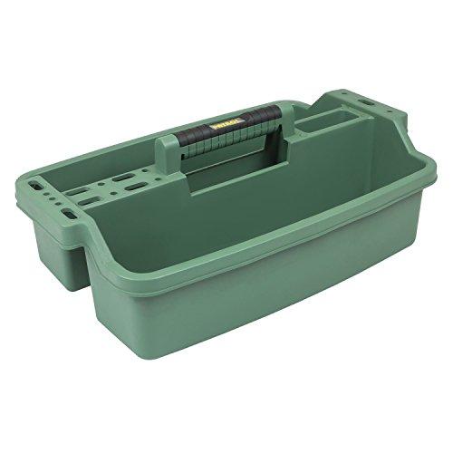 Werkzeugkoffer Werkzeugträger Werkzeughalter 520x320x195 mm grün 2 Fächer