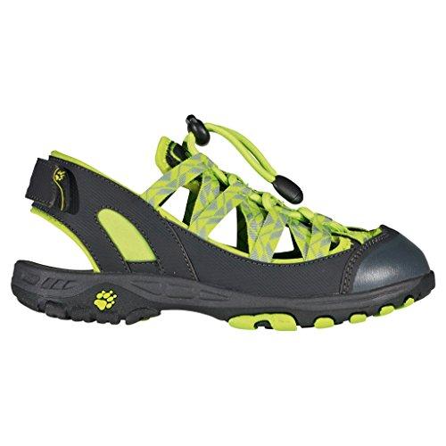 Jack Wolfskin, 4020051-4170320, lime green (neongrün-schwarz), Größe 34, Grau, EVA, Fußbett, antibakteriell
