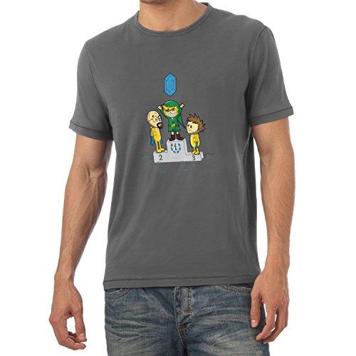 TEXLAB - Blue Crystal - Herren T-Shirt Grau