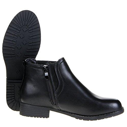 Bundinha No Inverno Femininos De Ankle Boot V1579 De Preto Casuais Olhar Marrom Senhoras Chelsea Sapatos Couro WvqAI77p