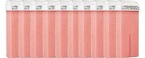 Purewax by purenail - 10 cartucce di cera alla rosa per depilazione, roll on standard, depilazione con striscia