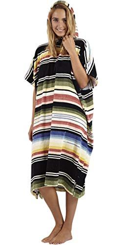 BILLABONG Junior Girls Salty Hooded cambiante Poncho Serape - Talla única - Diseño Colorido y Duradero