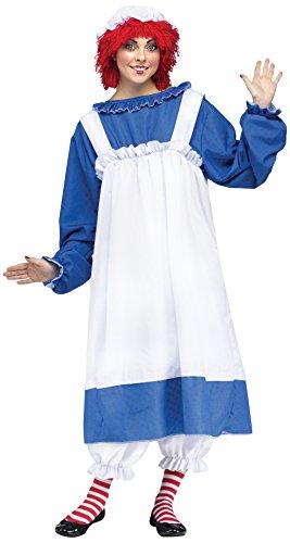 Unbekannt Raggedy Ann-Kostüm für Frauen Plus Size