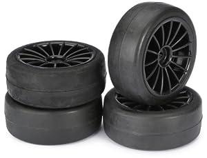 Absima - Wheel Set Onroad 15 Spoke/Slick Black 1:10 (4 pcs) (2510001)