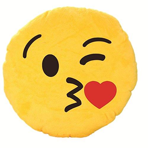 Skylofts 37cm Romantic Flying Kiss Emoji Pillow Smiley Cushion Soft Toy
