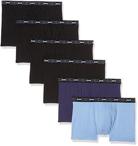 Dim Herren Badehose, 6er Pack Multicolore (Bleu Nuit/Bleu Pastel/Noir + Noir/Noir/Noir)