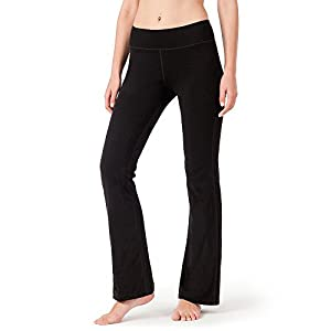 NAVISKIN Damen Yoga -und Jogginghose Bootcut mit Taschen (In Kurze, Normale & Lange Schrittlänge erhältlich)