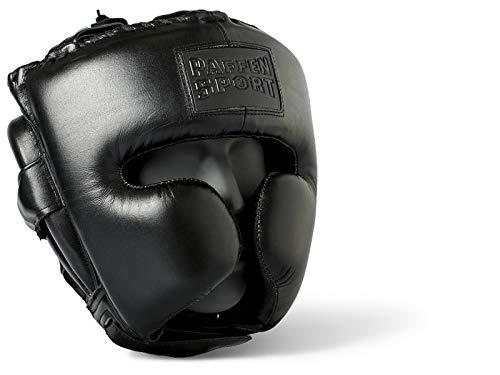Paffen Sport Black Logo Kopfschutz für das Sparring - schwarz - GR: M/L