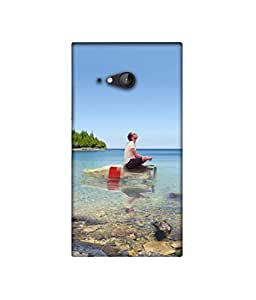 Casotec Man on Bottle 3D Printed Hard Back Case Cover for Nokia Lumia 730