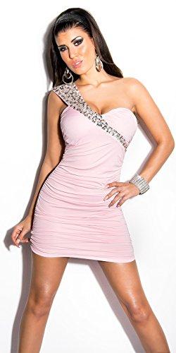 Koucla robe sexy dans le cou effet vintage avec paillettes koucla by in-stylefashion sKU 0000K8971 Rose - Rose bonbon