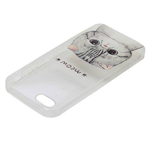 Coque Bumper pour Apple iPhone 6 plus,iPhone 6s plus Soft Silicone Tpu Coque Mode,iPhone 6 plus Flexible Souple Case,Ekakashop Mignonne Design Transparente Crystal Clair Souple Gel Housse Coque Protec Minou
