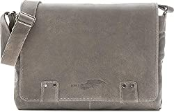 Leder Umhängetasche Herren Damen Messenger Bag Leder DIN A4 Ledertasche schwarz braun Cognac grau blau 36 x 30 x 8 cm von REBELS & LEGENDS