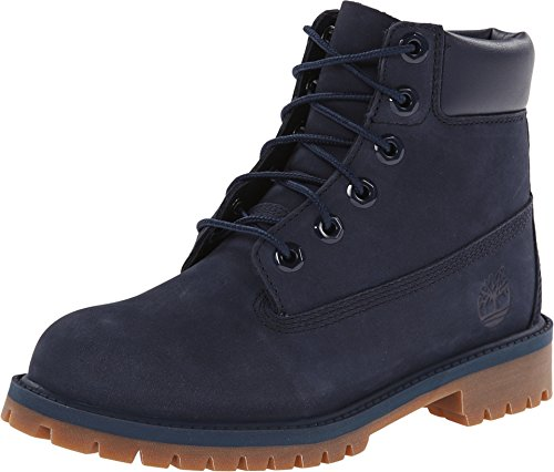 Timberland 6 in Premium Waterproof, Unisex-Kinder Kurzschaft Stiefel, Blau (Medium Blue Nubuck), 40 EU (7 UK (Junior) UK) Blue Nubuck Schuhe