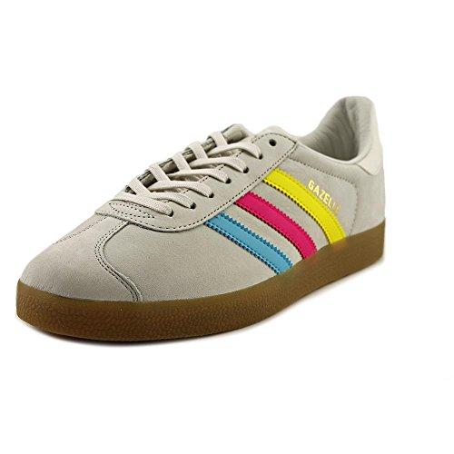 Adidas Gazelle Daim Baskets Vinwht-Brcyan-Shopin